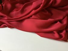 "NEW Best Red Colour Crepe-de-chine Silky Fabric Dress Garment 60""151 C jdore RED"