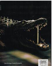 Publicité Advertising 1989 Le Stylo Cross