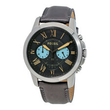 Fossil Grant Gunmetal Dial Mens Chronograph Watch FS5183