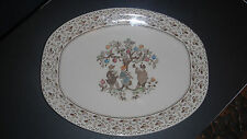 "JOHNSON BROTHERS BROWN OVAL PLATTER SERVING PLATE ""SUGAR & SPICE"""