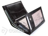 NEW MENS LUXURY REAL BLACK LEATHER CREDIT CARD HOLDER, WALLET, PURSE
