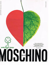 PUBLICITE ADVERTISING 025  1994   MOSCHINO JEANS  NATURAL FRIENDLY GARMENT