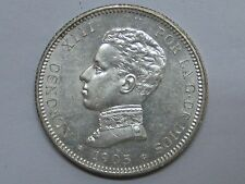 1905 ALFONSO XIII SILVER COIN 2 PESETAS SPAIN SPANISH