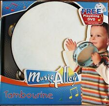 WOODEN FRAME TAMBOURINE & PLAY ALONG DVD. NEW. UK DISPATCH