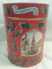 Lambertz Christmas Wind Up Musical Cookie Tin Aachen Deck The Halls Empty Vtg