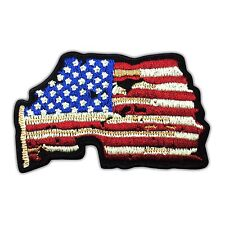 American US Flag Vintage Embroidered Iron Sew On Jacket Hat Patch Vest Biker New