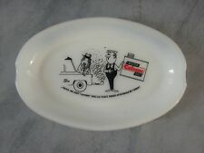 VINTAGE CENDRIER PUBLICITAIRE HUILE GARAGE FRENCH ADVERTISEMENT OIL ASHTRAY n2
