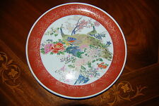 MAGNIFICENT LARGE SATSUMA CHARGER WALL  CABINET PLATE  BIRDS FLOWERS GOLD DECOR