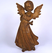 alte Engel Krippenfigur Bergmann Oberammergauer Schnitzerei carved wood angel