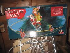 Mr Christmas Uni-cycling Santa Claus vintage Christmas in box