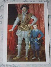 Postcard - Sir Walter Raleigh with his son - National Portrait Gallery