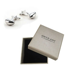 Mens Rugby Ball Sport Novelty Cufflinks & Gift Box By Onyx Art