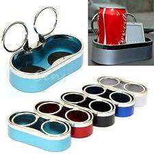 Two Hole Drink Bottle Can Cup Holder Stand Auto Car Truck Mount Black/Blue/Red