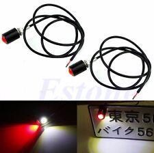 2Pcs Universal Bolt-On LED Lamps License Plate Car Auto Brake Tail Fog Light New