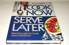 "Books, Reader""s Digest, Cook Now Serve Later, cookbook, recipes"