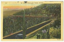 Vintage Linen Postcard TUCSON COUNTRYSIDE BY MT. LEMMON 1952 Very Good condition