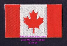 LMH PATCH Badge  CANADIAN FLAG Crest  CANADA Bright Red Maple Leaf Banner  3""