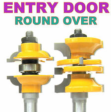 """2 pc 1/2"""" SH Entry & Interior Door Round Over Matched R&S Router Bit Set sct 888"""