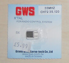 GWS CHANNEL 72 SINGLE CONVERSION MICRO RECEIVER CRYSTAL 35MHZ NEW IN PACKET