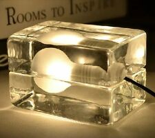 Ice Block Cube DIY Table Lamp Floor Lighting Bulb Bedroom Home Cafe Ouk