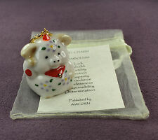 LUCKY PIG TOTEM CHARM Beckoning Wealth Good Luck Fortune Maneki Neko Feng Shui