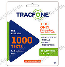 Tracfone PIN 1000 text messages / Texts only / Smartphone Airtime Top-Up Refill