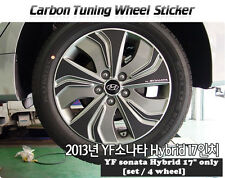 "Carbon Tuning Wheel Mask Sticker For Hyundai YF Sonata Hybrid 17"" [2013~2014]"