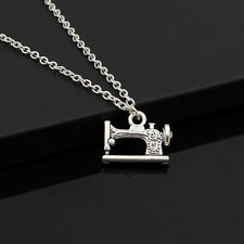 "Men/Womens Fashion Vintage Silver Sewing Machine Pendant 18"" Short Necklace DY26"