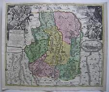 Mindelheim Allgäu Bayerisch Schwaben Kolor Kupferstichkarte Homann 1720