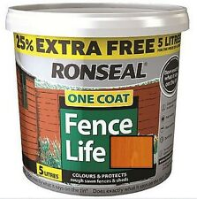Ronseal 5L One Coat Life Quick Dry Garden Shed & Fence Paint All Colours!!!!!!!!