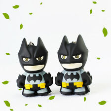 1pc Cartoon Batman Light Up LED Torch With sound Keyring KeyChain Gift