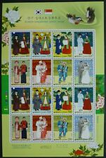 Corea South 2007 nozze costumi wedding dresses 2581-88 piccoli archi ** MNH