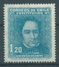 CHILE 1933 100 years Constitution 1.2 pesos Sc.184  MNH