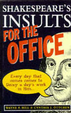 Shakespeares Insults for the Office,VERYGOOD Book