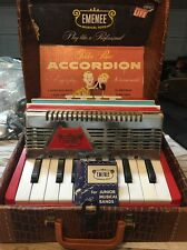 Vintage 50s - Emenee Toy Accordion With Box & Booklet - Great Condition!