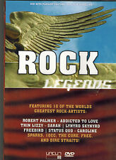 DVD  Rock Legends,FSK 16,Titel 2. Foto,Status Quo,Thin Lizzy,The Cure,Free...