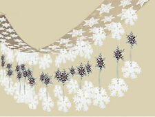 Let it Snow Christmas / Frozen Snowflakes Large Ceiling Hanging Decoration