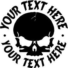 "1 CUSTOM 4"" SKULL MOTORCYCLE HELMET DECAL STICKER CAR"