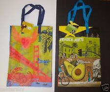 NEW TRADER JOE'S NORTHERN CA & SOUTHERN CA REUSABLE SHOPPING GROCERY BAGS