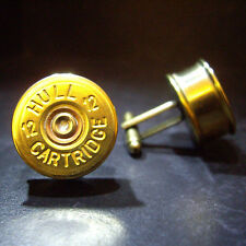 Shotgun Shell Cartridge Cap Cufflinks Clay and Game Shooting Steampunk Birthday