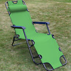 New Chaise Lounge Patio Chair Outdoor Yard Beach Metal Folding Recliner
