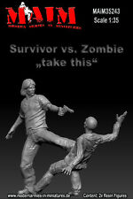 1/35 Scale Resin kit Survivor shoots Zombie (2 Figures)