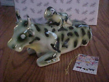 MOTHER FROG COW PARADE ® FIGURINE NIB WITH Tags