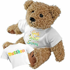 Beautiful Personalised Get Well Soon Teddy Bear and Gift Bag - Add a Name Gift
