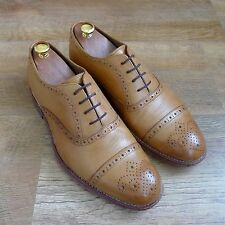 Grenson Matthew Bronceado Semi Brogue Divisor Zapatos UK 8 EU 42 RRP £ 210
