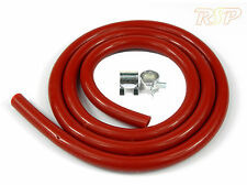 Red Silicone Vacuum Boost Hose 4mm ID x 8mm OD +2 Clamps Mazda RX7 RX8 MX5 3 6