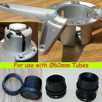 Adjustable Screw Footer or Top Fixing/mounting plate for Table Tubes/Legs  Ø60mm