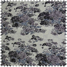 Floral Pattern Printed On Lace White Purple Colour Stretchy Craft Cushion Fabric