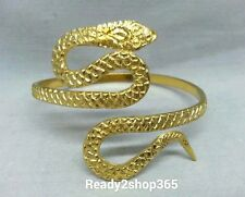 Snake Upper Arm Bracelet Cuff Bangle Armlet Armband Gold Fashion Belly Dance New