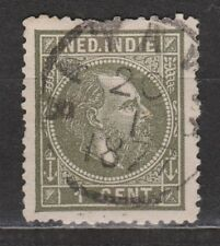 Nederlands Indie Netherlands Indies Indonesie 3 D CANCEL BATAVIA Willem III 1875